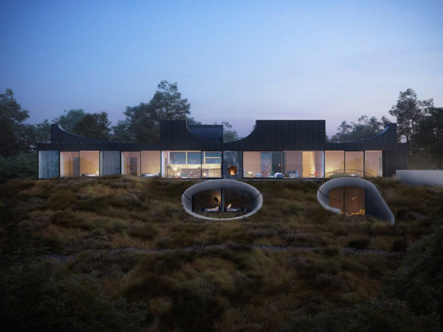 House of Horns, House of Horns Los Altos, House of Horns by WOJR, sculptural architecture in Silicon Valley, minimalist and sculptural residence in Los Altos,
