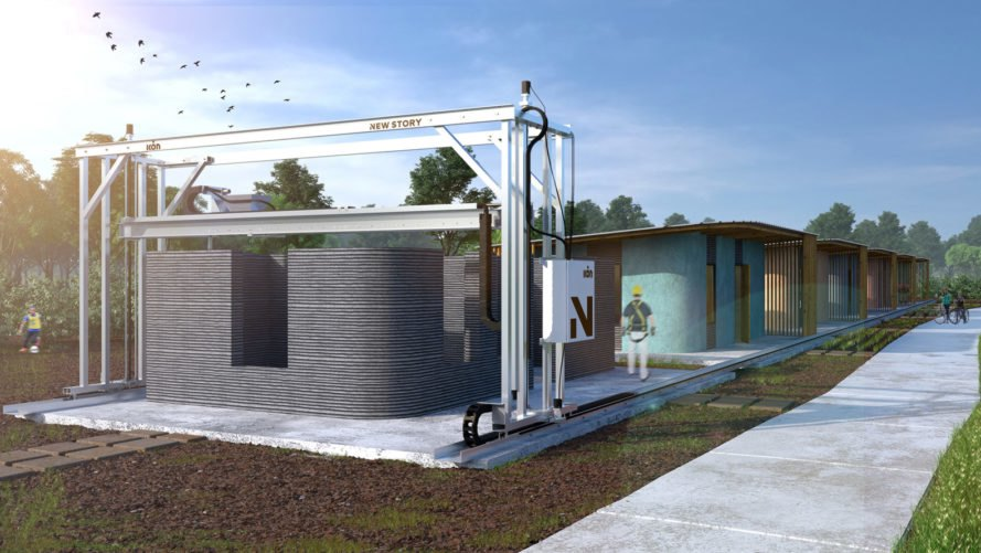 ICON, New Story, 3D-printed house, 3D-printed home, 3D-printed housing, 3D-printed community