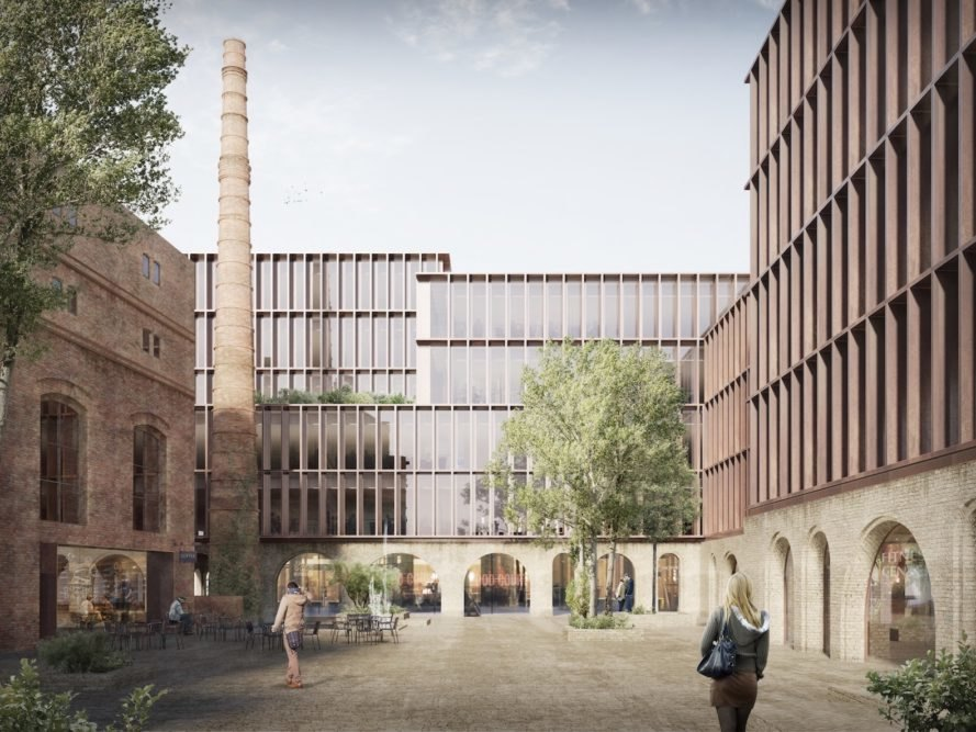 European Union's 2020 climate and energy projects in Riga, Kimmel Quarter in Riga, Kimmel Quarter by Schmidt Hammer Lassen Architects, sustainable Riga architecture projects, brewery adaptive reuse projects