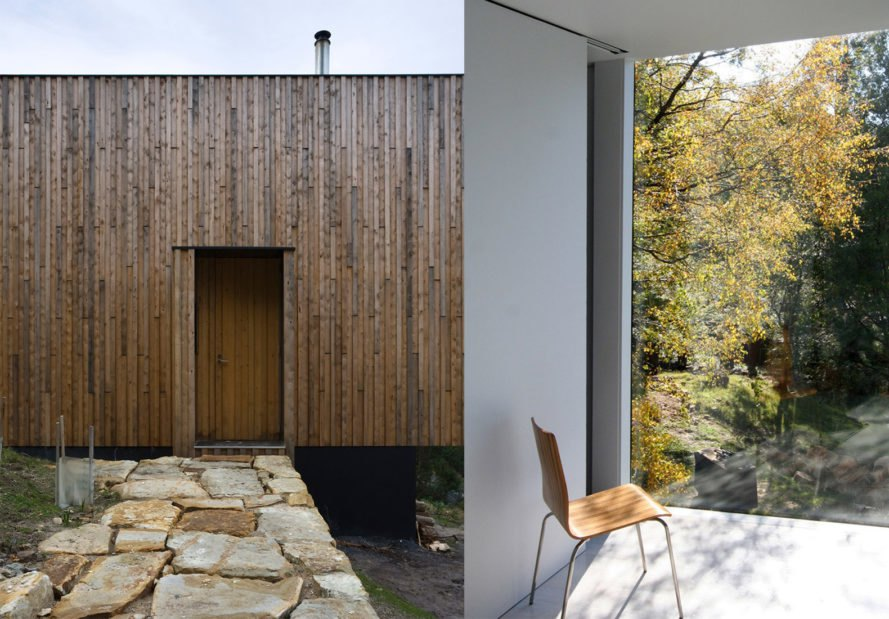 Little Big House by Room11 Architects, Little Big House in Tasmania, contemporary Tasmanian architecture, Mount Wellington modern architecture, timber cabin with cross ventilation, timber cabins in Tasmania