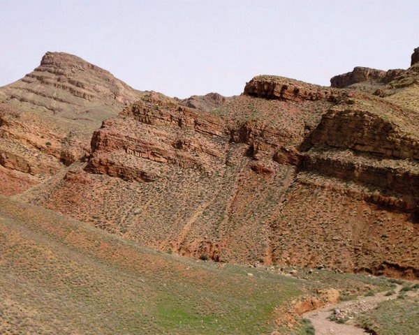 Iran, fossils, hills, rock, landscape, research
