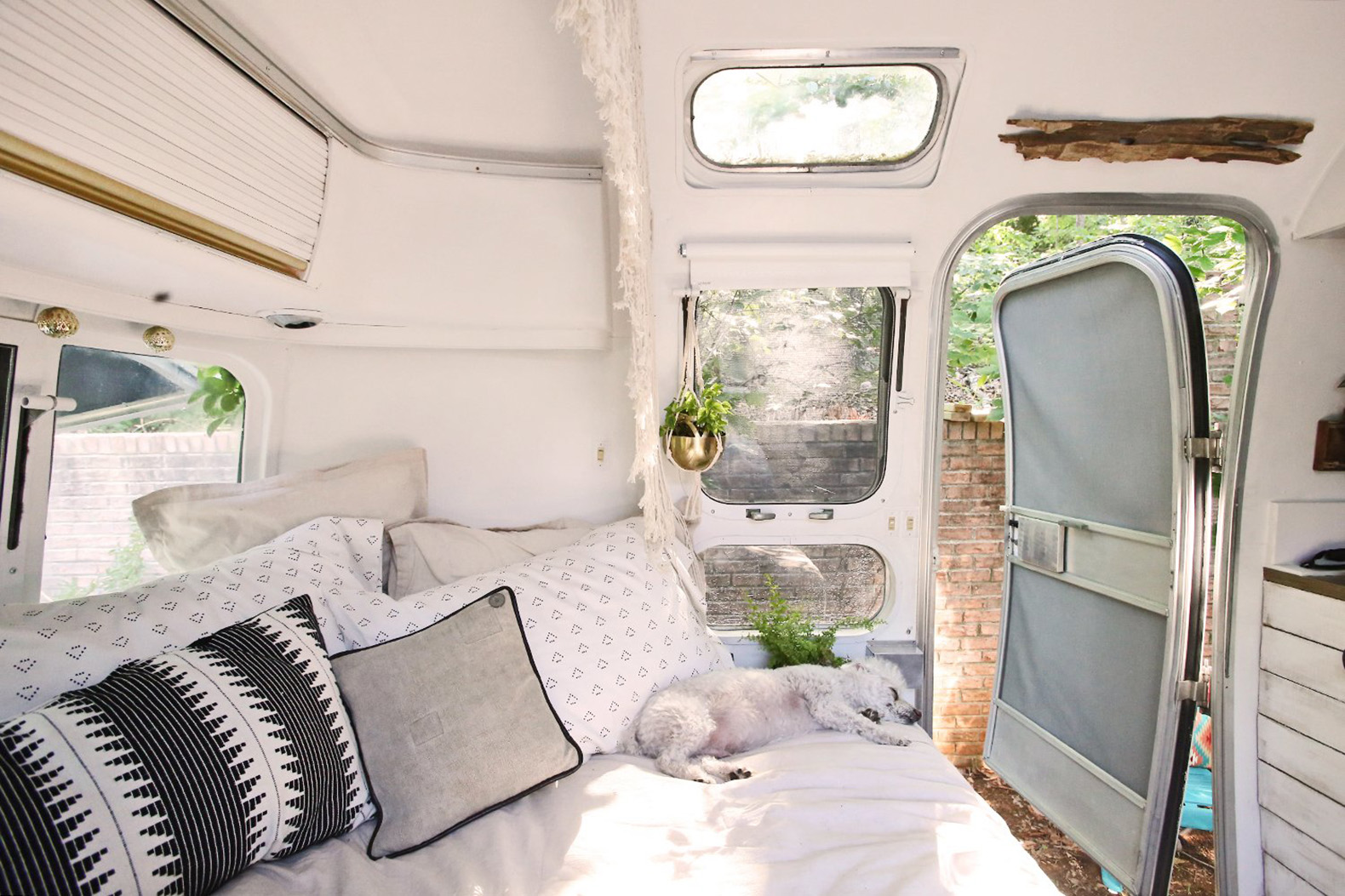 This Adventurous Couple Revamped An Old Airstream Into A
