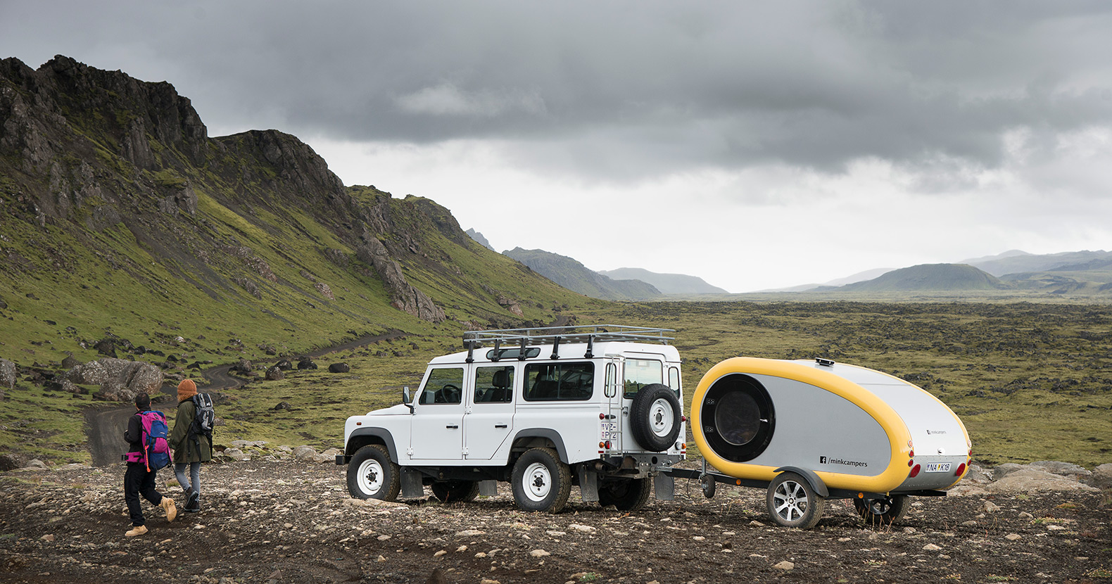 """Adorable mini Mink Campers are """"The only way to see Iceland"""""""