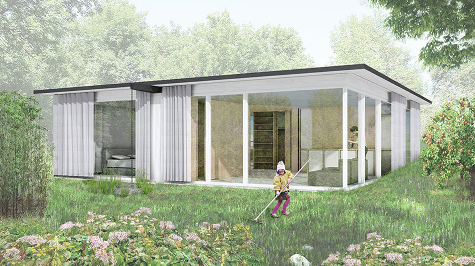 This prefab movable house can be assembled anywhere