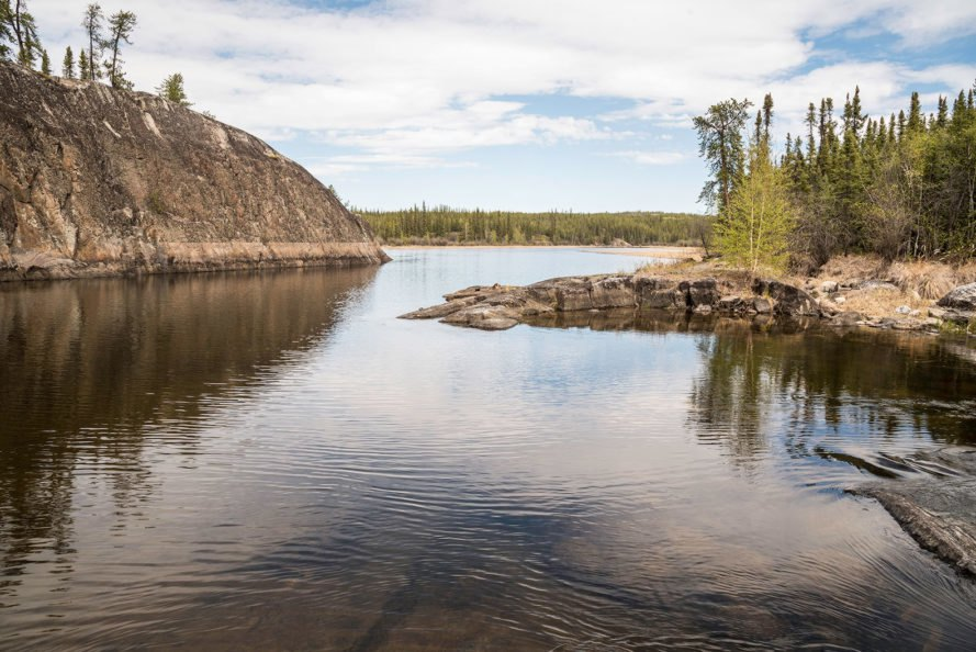 Cameron River, Ingraham Trail, Northwest Territories, Canada, river, landscape, scenery