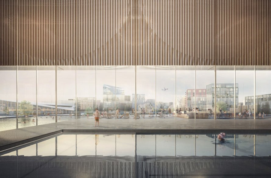 Oslo Airport City, Haptic Architects, Nordic – Office of Architecture, energy positive, airport city, renewable energy, green airport, Norway, fossil fuels, green city, green economy, green technology, car free