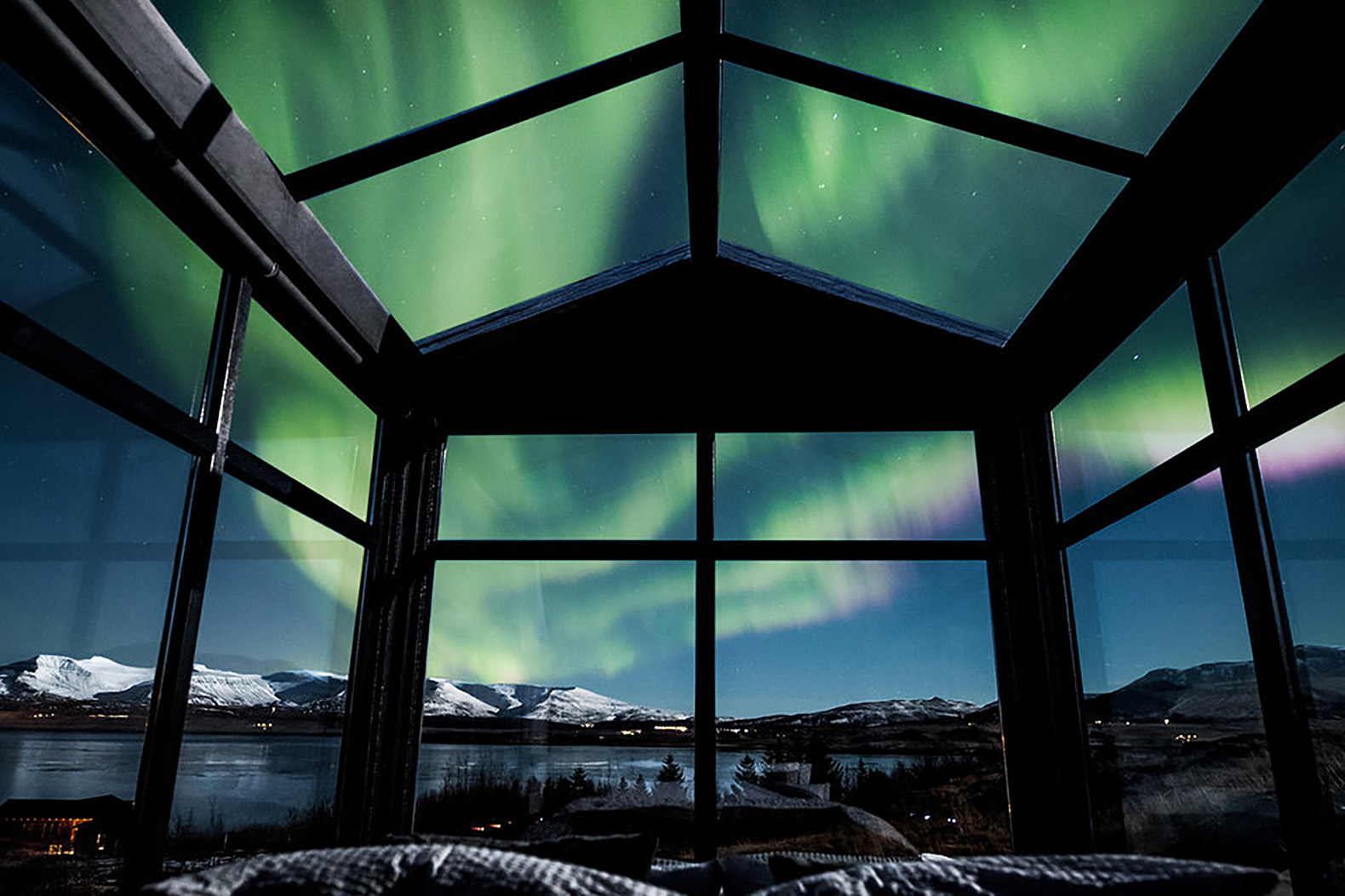 Exceptional This Glass Cabin In Iceland Lets You Watch The Northern Lights From Your Bed