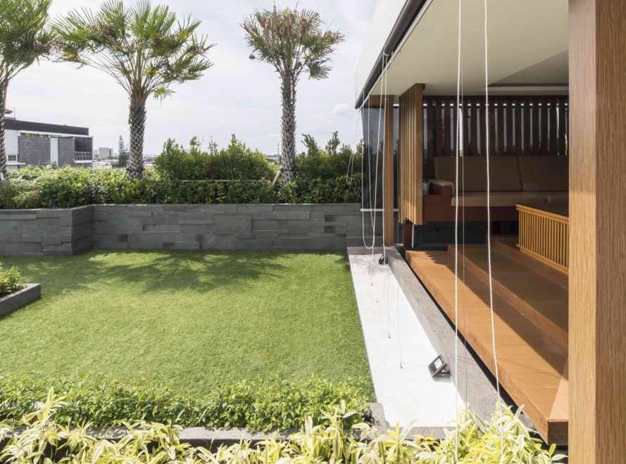YN House, HYJA, swimming pool, Vietnam, natural ventilation, green architecture, wood grille, low maintenance, shading, green interior