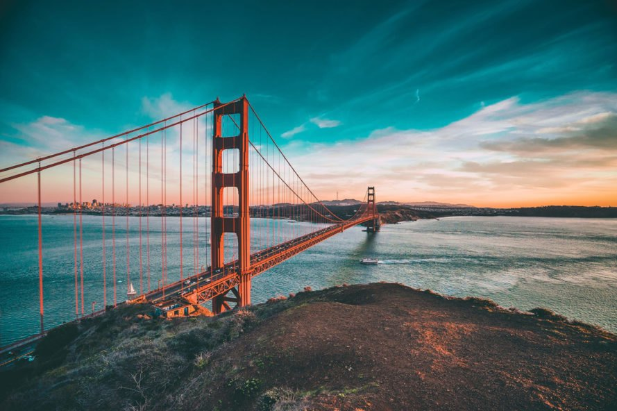 San Francisco, Bay Area, Golden Gate, Golden Gate Bridge, city, bridge, landscape