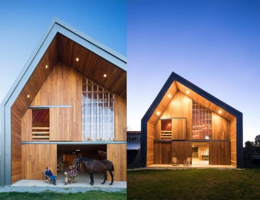 Traditional barn raising techniques bring a modern cost for Modern farmhouse cost to build