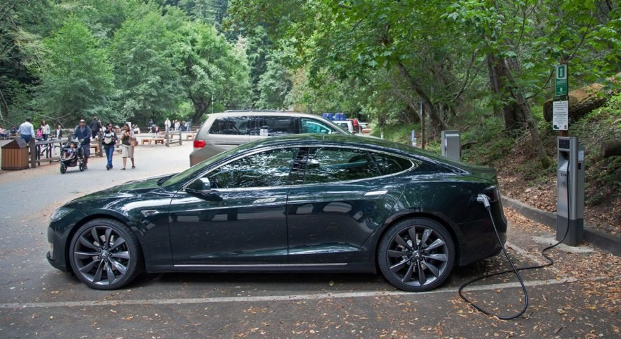 Tesla, Model S, Tesla Model S, electric car, electric vehicle, EV charging, Muir Woods