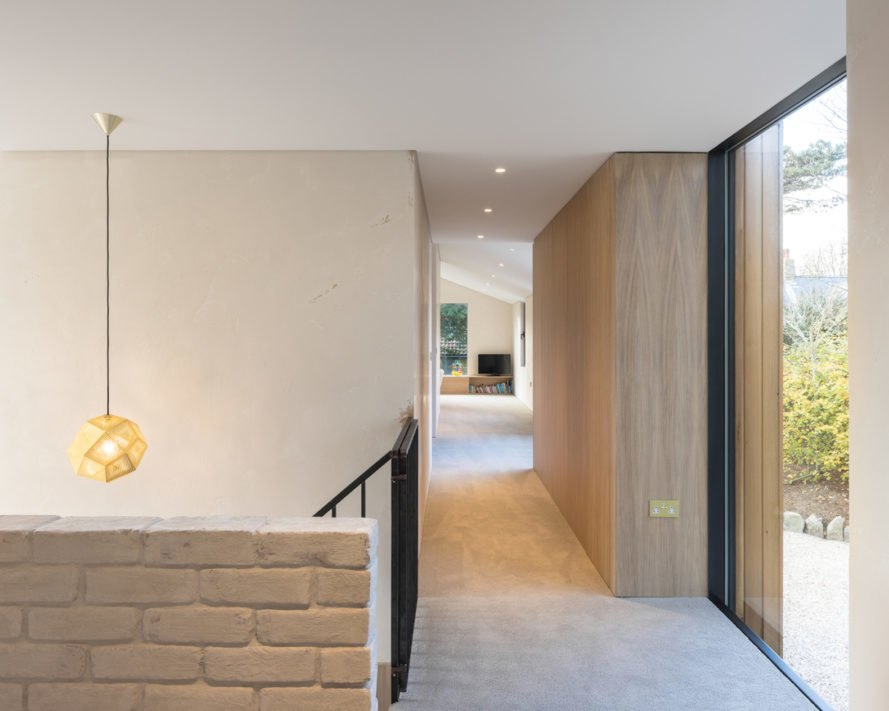 The Glade by DLM Architects, The Glade Guernsey, Guernsey contemporary architecture, Guernsey sustainable architecture, living wall clad home in Guernsey, recycled materials in home construction Guernsey, St Peter Port contemporary architecture,