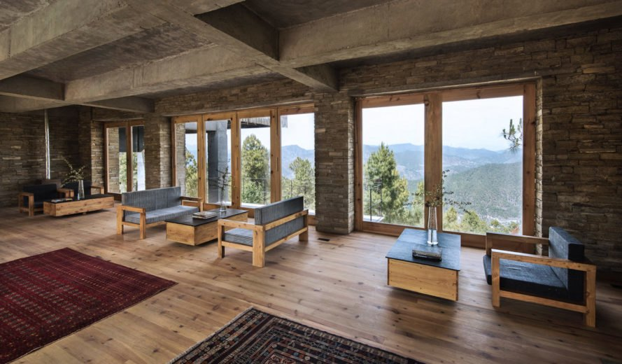 The Kumaon by Zowa Architects, The Kumaon in Uttarakhand, The Kumaon in India, The Kumaon hotel, Indian Himalayas rustic hotel, bamboo clad concrete buildings, bamboo clad hotels, rainwater harvesting hotel