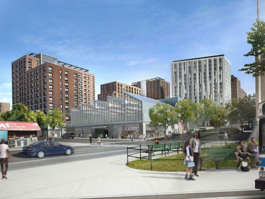 The Peninsula by WXY architecture + urban design and Body Lawson Associates, Peninsula by WXY architecture + urban design, green roofs in south Bronx, solar panels south Bronx, south Bronx live work campus, Spofford Juvenile Detention Center, affordable housing south Bronx