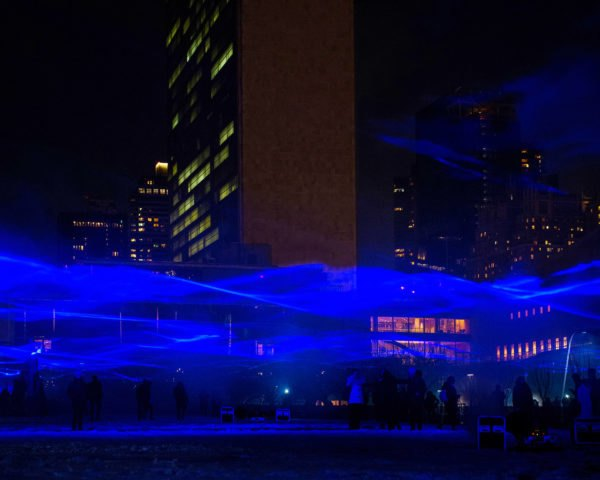 Waterlicht, Waterlicht New York, Studio Roosegaarde, United Nations Headquarters, United Nations, New York City, light, art