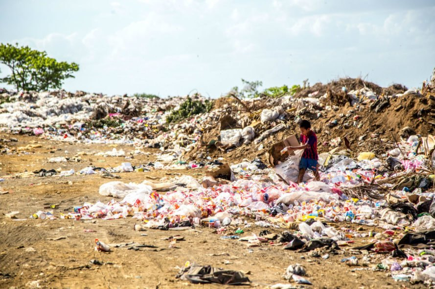 landfill overflowing, environmental impact of human waste, environmental impact of disposable diapers