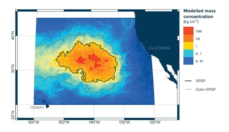 Pacific Garbage Patch, Garbage Patch Map, Pacific Garbage Patch Map
