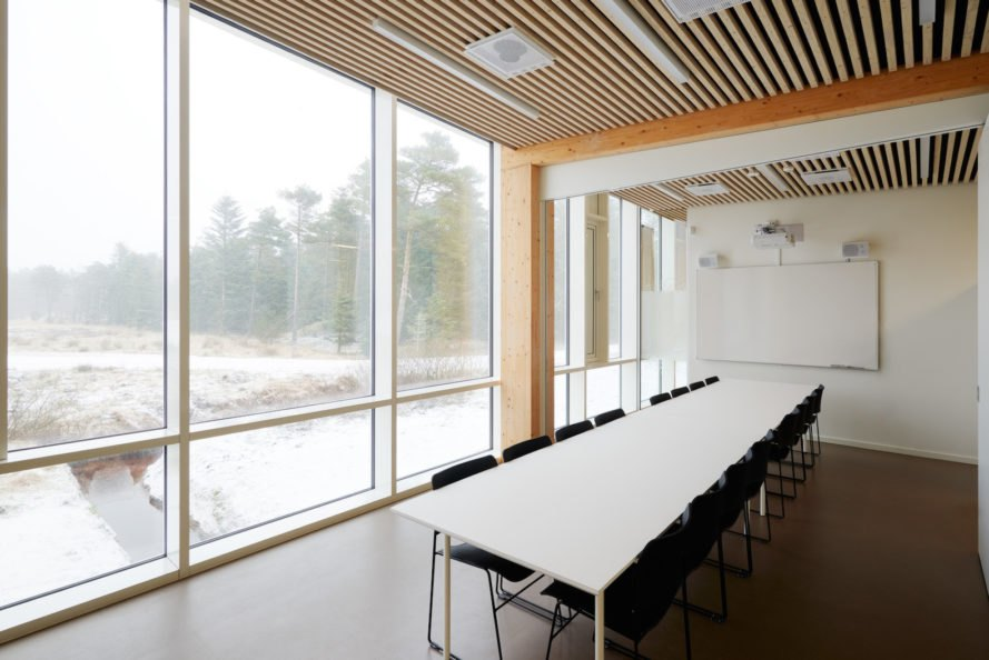 Naturally lit meeting room Østerild Visitors and Operation Center by Cubo Arkitekter