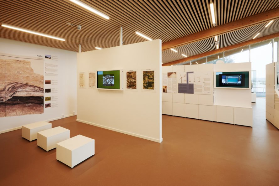 Exhibition room Østerild Visitors and Operation Center by Cubo Arkitekter