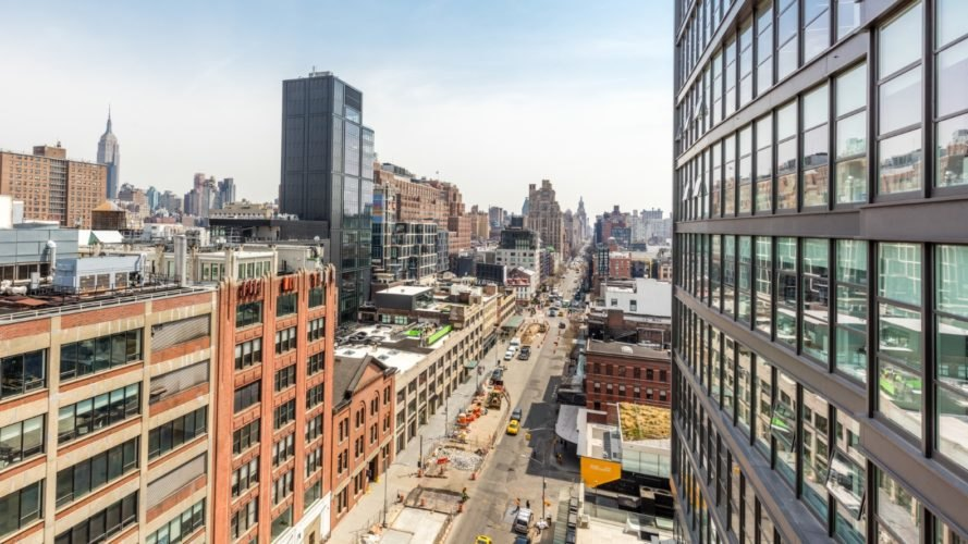 Studio Gang-designed 40 Tenth Avenue recently topped out in New York City near the High Line park