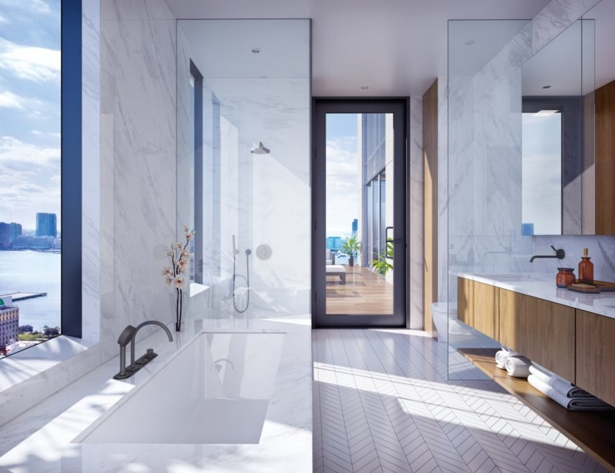 570 Broome, Builtd, 570 Broome by Builtd, Skidmore Owings & Merrill, bathroom, condominium, New York City