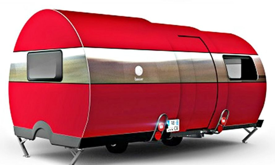 The red Beauer Caravan that extends outwards.