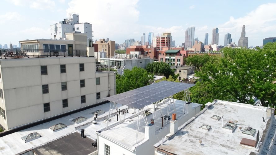 Brooklyn SolarWorks, Solar Canopy, Brooklyn SolarWorks Solar Canopy, solar panels, New York City, city, urban