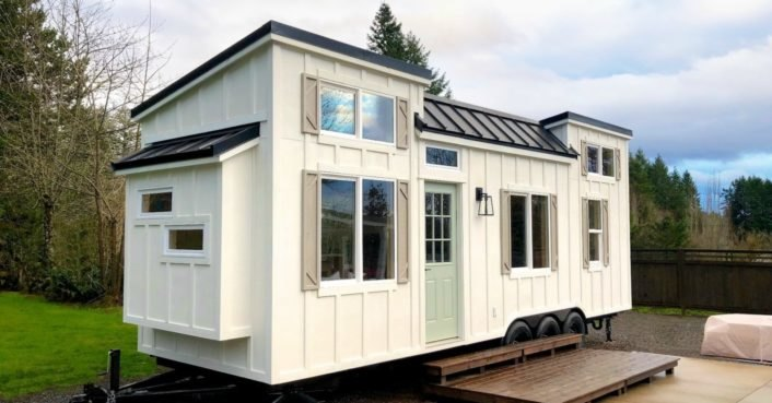 This custom-built tiny house is big on interior design