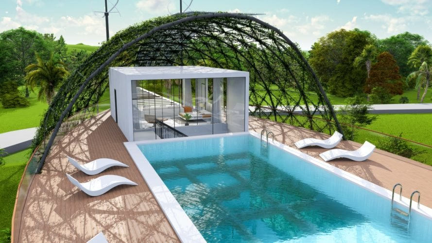 Cocoon Smart Home, Richard's Architecture + Design, Cocoon Smart Home by Richard's Architecture + Design, off-grid home, self-sufficient home, smart home, Dominican Republic, pool
