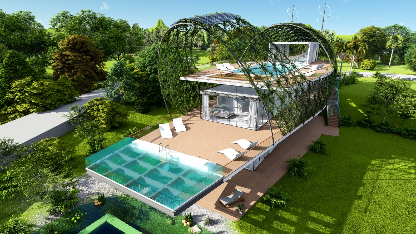 The Cocoon Smart Home will harvest rainwater, solar energy and organic veggies in the Caribbean