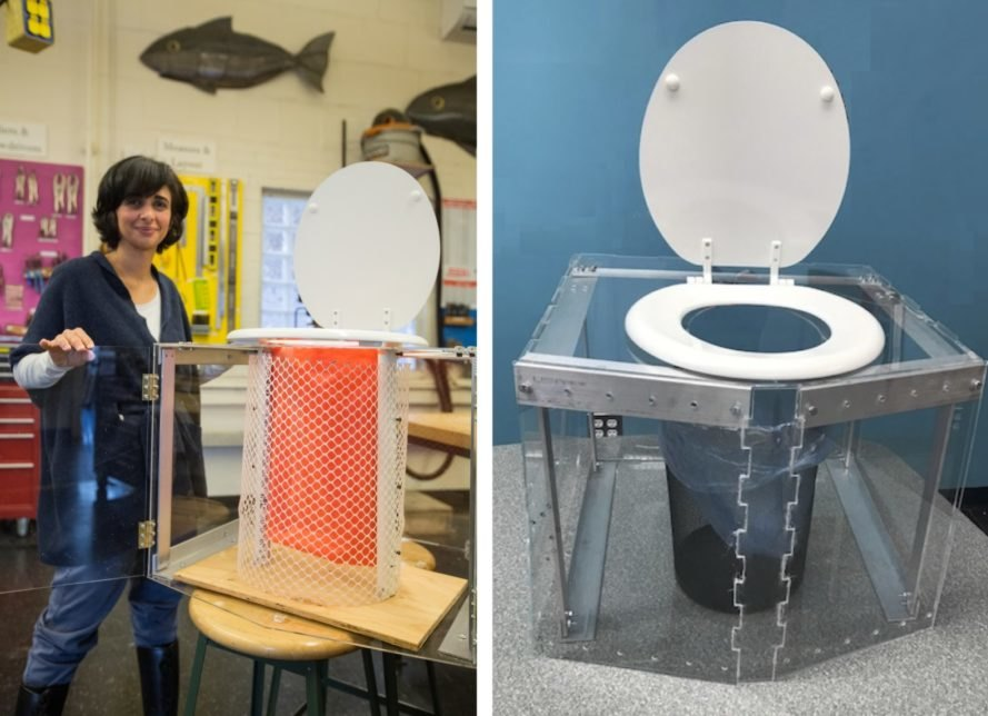 Diana Yousef, change:WATER, toilet, waterless toilet, evaporative toilet, off-grid toilet