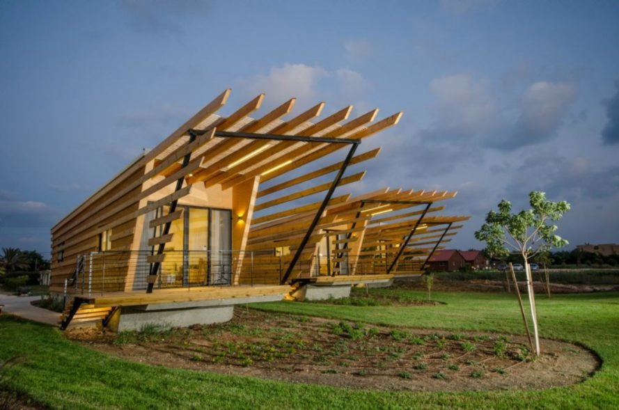Ron Shenkin Architecture, Dor Holiday Bungalows, timber cabins, timber holiday cabins, timber buildings, prefabricated timber buildings, pref buildings, cabin design, israeli beach bungalows, wooden pergola, timber cabin designs, israeli architecture, israeli bungalows,