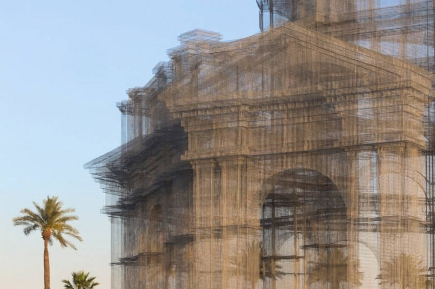 Indio Coachella sculpture Etherea by Edoardo Tresoldi