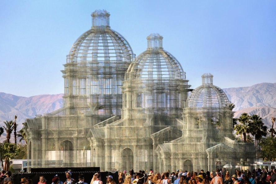 Three sculptures Etherea by Edoardo Tresoldi