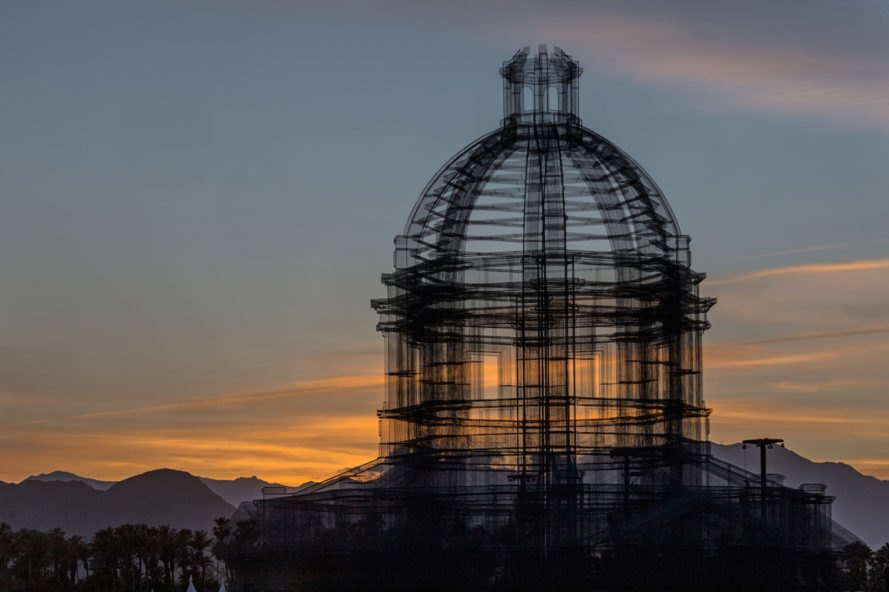 sunset view Etherea by Edoardo Tresoldi