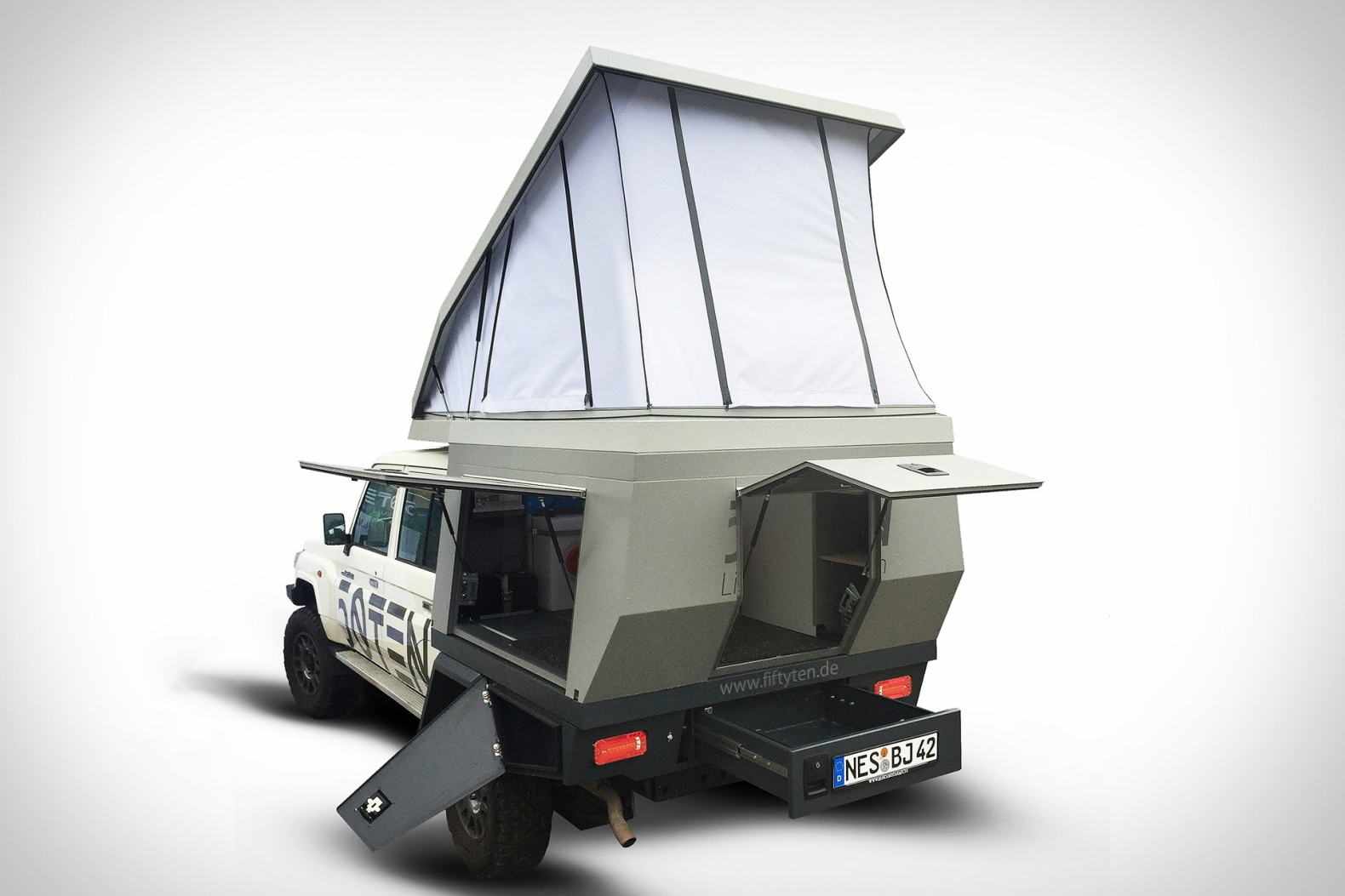 This pop-up camper transforms any truck into a tiny mobile home in seconds