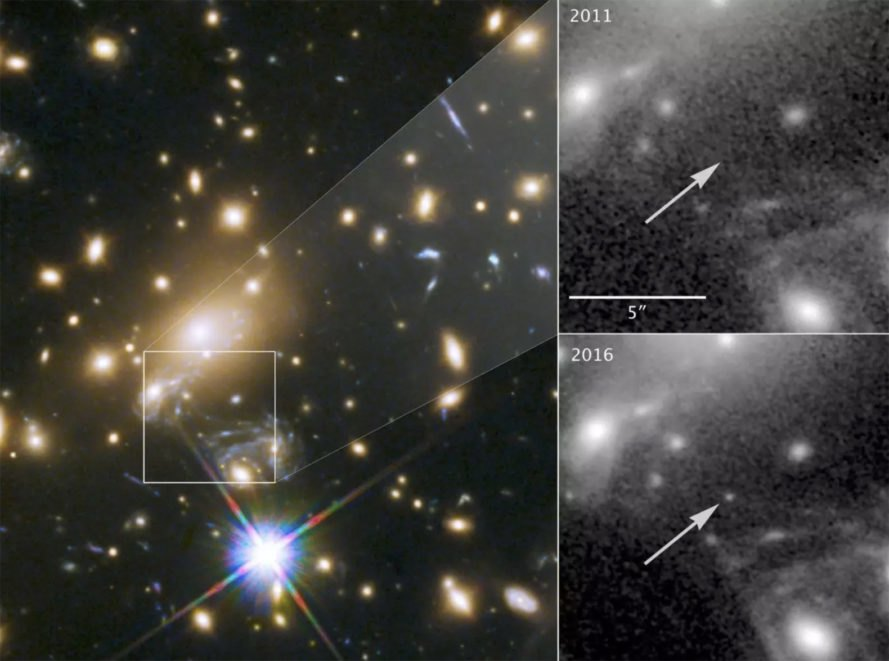 Hubble spots farthest individual star ever seen