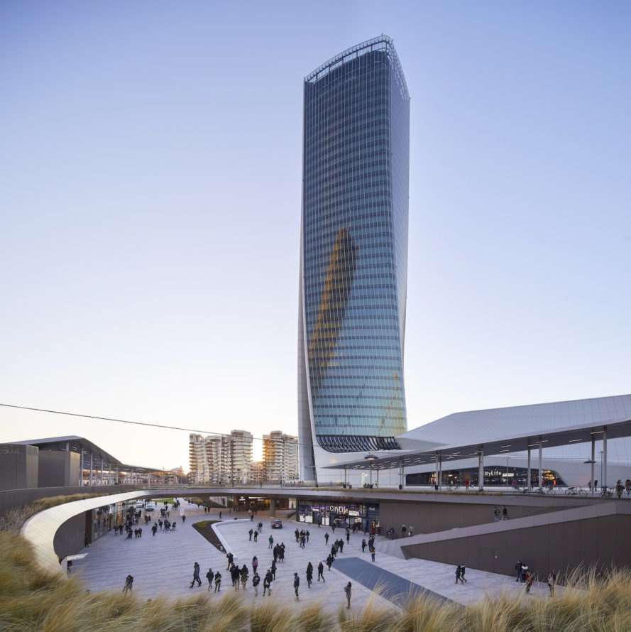 Shopping development Generali Tower by Zaha Hadid Architects