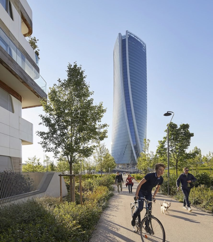 Tower sits at the convergence of axes Generali Tower by Zaha Hadid Architects