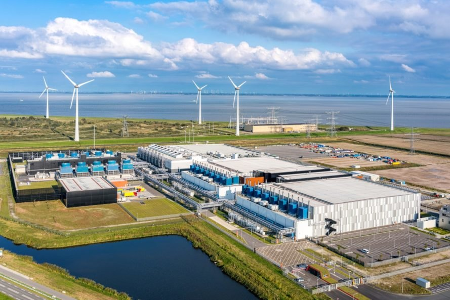 Google, data center, the Netherlands, wind power, wind energy, wind turbine, wind turbines