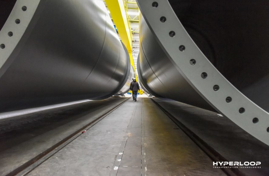Hyperloop Transportation Technologies, HyperloopTT, tube, Hyperloop, Hyperloop tube, test track, Hyperloop test track