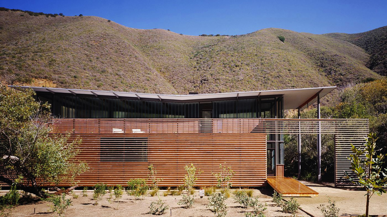 The Jackson House Floats At The Base Of A Canyon In Big Sur