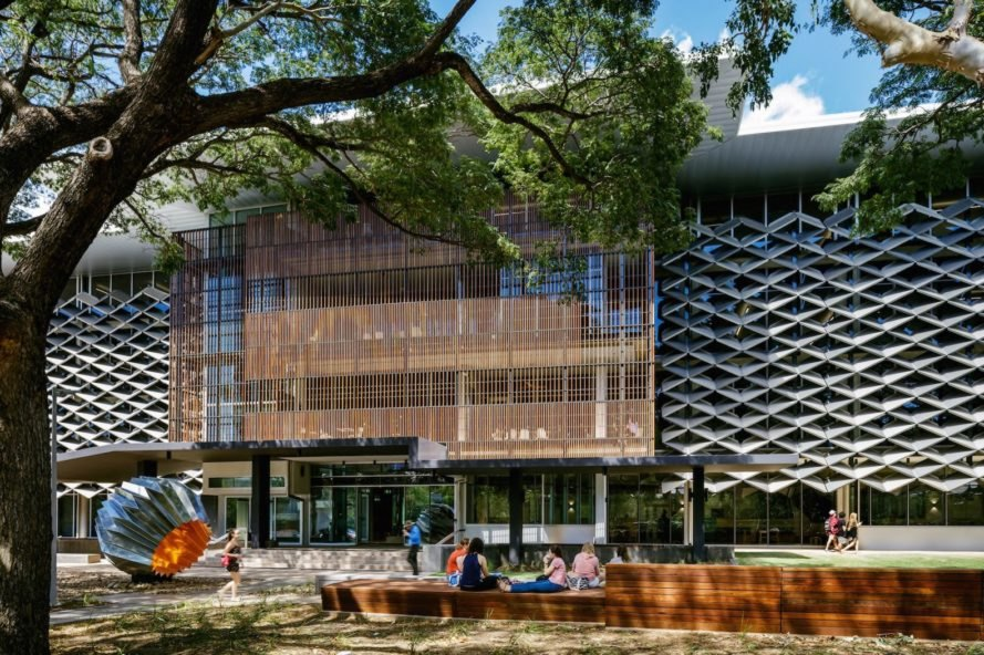 heat deflecting facade James Cook University The Science Place by HASSELL