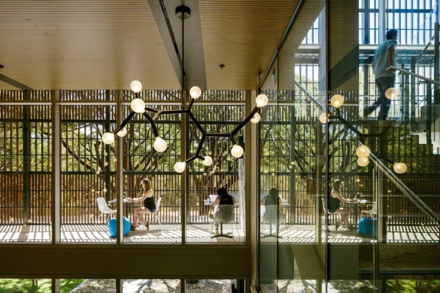 Light-filled atrium James Cook University The Science Place by HASSELL