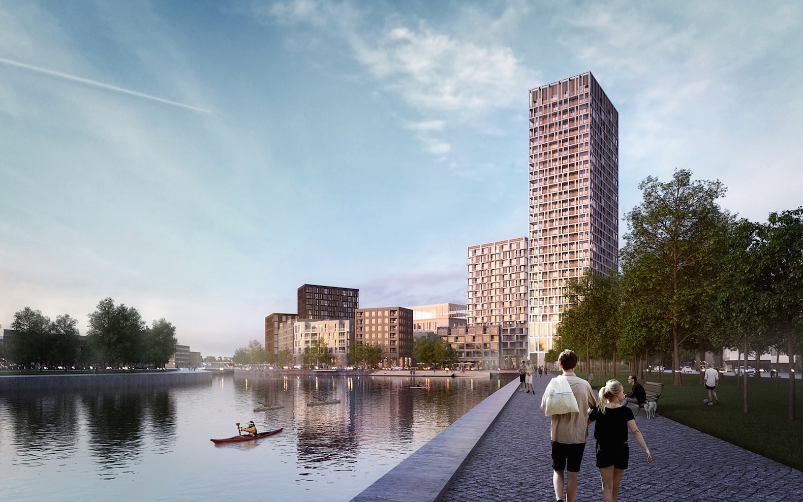 Henning Larsen to revitalize Brussels region with rooftop farming and co-housing