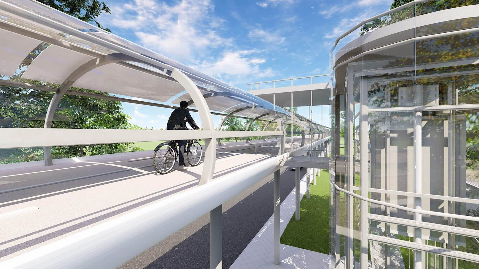 This all-weather bicycle highway could fulfill the dreams of bike commuters everywhere