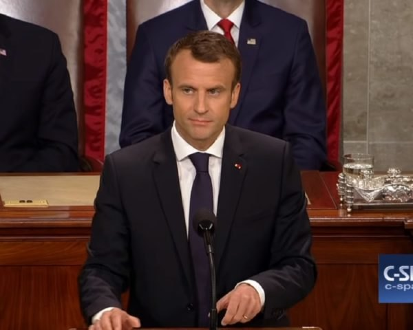 French President Emmanuel Macron addresses the United States Congress
