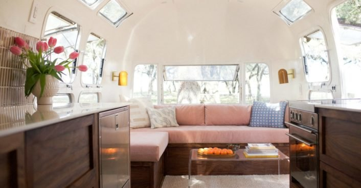 Couple restores an old Airstream into a chic tiny home on wheels