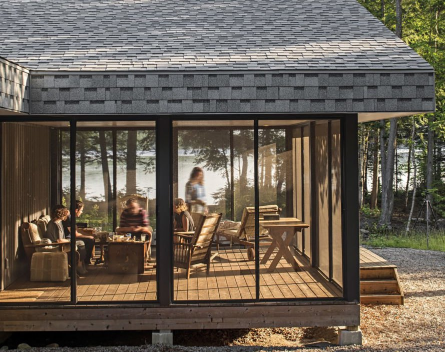 Murphy house in Ontario, MASS Design Group, Kelly Doran, off grid retreat, cottage, solar power, Canada, green architecture, cross-ventilation, solar panels, storage space