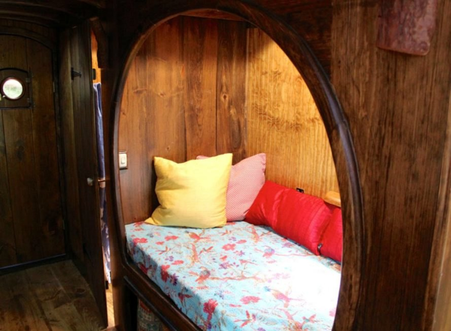 reading nook in the old time caravan